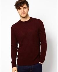 Мужской темно-красный вязаный свитер от Asos