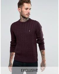 Мужской темно-красный вязаный свитер от Farah