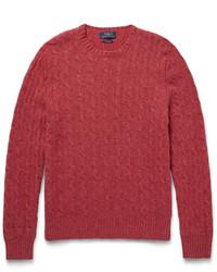 Мужской темно-красный вязаный свитер от Polo Ralph Lauren