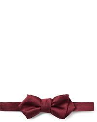 Темно-красный галстук-бабочка