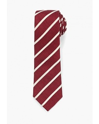 Мужской темно-красный галстук в вертикальную полоску от Mango Man