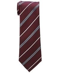 Темно-красный галстук в горизонтальную полоску