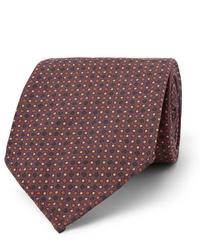 Мужской темно-красный галстук в горошек от Drake's