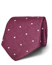 Мужской темно-красный галстук в горошек от Paul Smith