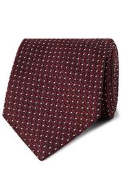 Мужской темно-красный галстук в горошек от Tom Ford