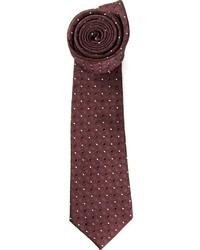 Мужской темно-красный галстук в горошек от Valentino
