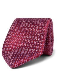 Мужской темно-красный галстук с принтом от Charvet