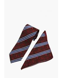 Мужской темно-красный галстук с принтом от Fayzoff S.A.