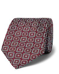 Мужской темно-красный галстук с принтом от Kingsman