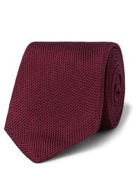 Мужской темно-красный галстук от Drakes