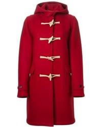 Женский темно-красный дафлкот от Saint Laurent