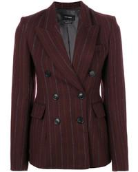 Женский темно-красный двубортный пиджак от Isabel Marant