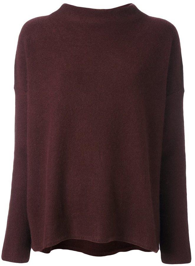 4fa01aa12dc6 25 328 руб., Женский темно-красный кашемировый свитер от Vince