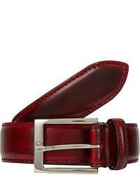 Темно-красный кожаный ремень