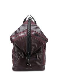 Мужской темно-красный кожаный рюкзак от Jimmy Choo