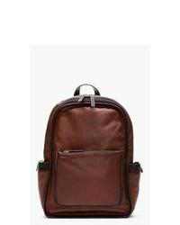 Мужской темно-красный кожаный рюкзак от Marc by Marc Jacobs