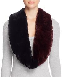 Женский темно-красный меховой шарф от Surell