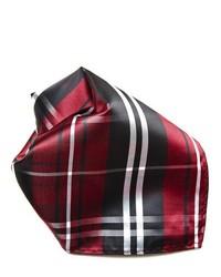 Темно-красный нагрудный платок в шотландскую клетку