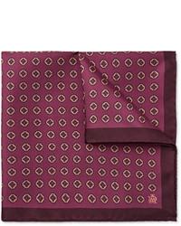 Темно-красный нагрудный платок с принтом от Dunhill