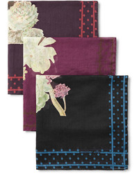 Темно-красный нагрудный платок с принтом от Massimo Alba