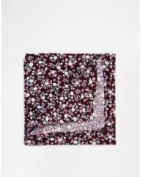 Темно-красный нагрудный платок с цветочным принтом от Asos