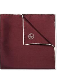 Темно-красный нагрудный платок от Kingsman