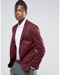 Мужской темно-красный пиджак от Asos