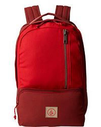Темно-красный рюкзак из плотной ткани
