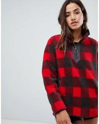 Женский темно-красный свитер с воротником на молнии от Abercrombie & Fitch