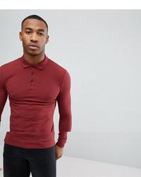 Мужской темно-красный свитер с воротником поло от ASOS DESIGN