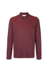 Мужской темно-красный свитер с воротником поло от Cerruti 1881