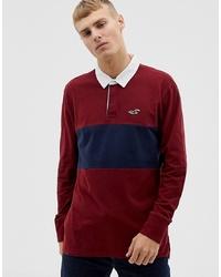 Мужской темно-красный свитер с воротником поло от Hollister