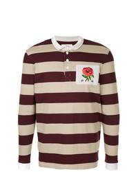 Мужской темно-красный свитер с воротником поло от Kent & Curwen