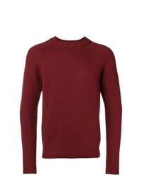 Мужской темно-красный свитер с круглым вырезом от A.P.C.