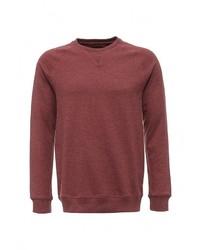 Мужской темно-красный свитер с круглым вырезом от Burton Menswear London