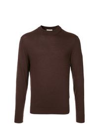 Мужской темно-красный свитер с круглым вырезом от Cerruti 1881