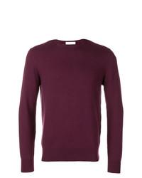 Мужской темно-красный свитер с круглым вырезом от Cruciani