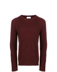 Мужской темно-красный свитер с круглым вырезом от Dondup