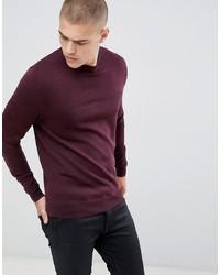 Мужской темно-красный свитер с круглым вырезом от Fred Perry
