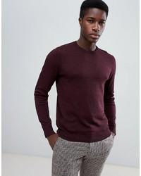 Мужской темно-красный свитер с круглым вырезом от Jack & Jones
