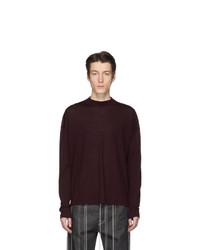 Мужской темно-красный свитер с круглым вырезом от Jil Sander
