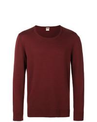 Мужской темно-красный свитер с круглым вырезом от Massimo Alba