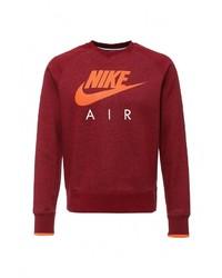 Мужской темно-красный свитер с круглым вырезом от Nike
