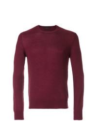Мужской темно-красный свитер с круглым вырезом от Prada