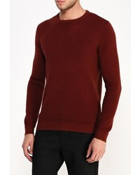 Мужской темно-красный свитер с круглым вырезом от River Island