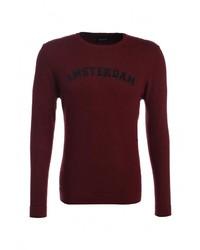 Мужской темно-красный свитер с круглым вырезом от SPRINGFIELD