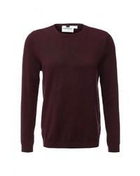 Мужской темно-красный свитер с круглым вырезом от Topman