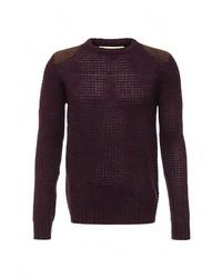Мужской темно-красный свитер с круглым вырезом от Troll