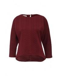 Женский темно-красный свитер с круглым вырезом от Tutto Bene