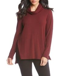 Темно-красный свитер с хомутом